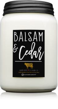 Milkhouse Candle Co. Farmhouse Balsam & Cedar lumânare parfumată