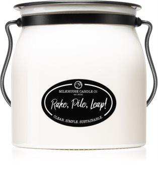 Milkhouse Candle Co. Creamery Rake, Pile, Leap! illatos gyertya