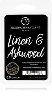 Milkhouse Candle Co. Creamery Linen & Ashwood illatos viasz aromalámpába