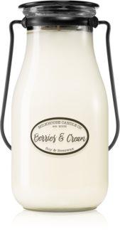 Milkhouse Candle Co. Creamery Berries & Cream (Milkbottle Pint) doftljus