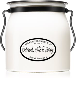 Milkhouse Candle Co. Creamery Oatmeal, Milk & Honey scented candle Butter Jar