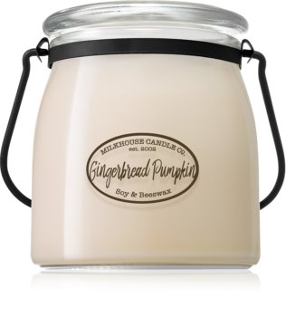 Milkhouse Candle Co. Creamery Gingerbread Pumpkin scented candle Butter Jar