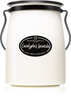 Milkhouse Candle Co. Creamery Eucalyptus Lavender scented candle Butter Jar