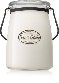 Milkhouse Candle Co. Creamery Tuscan Garden vela perfumada  Butter Jar