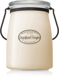 Milkhouse Candle Co. Creamery Gingerbread Pumpkin candela profumata Butter Jar
