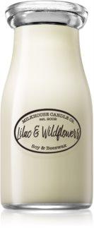 Milkhouse Candle Co. Creamery Lilac & Wildflowers Tuoksukynttilä Maitopullo