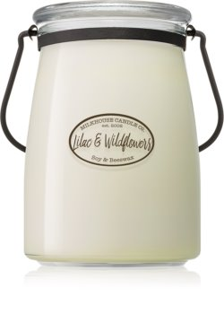 Milkhouse Candle Co. Creamery Lilac & Wildflowers scented candle Butter Jar