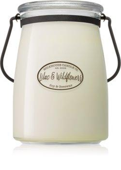 Milkhouse Candle Co. Creamery Lilac & Wildflowers Tuoksukynttilä Voipurkki