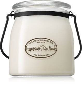 Milkhouse Candle Co. Creamery Peppermint Pine Needle scented candle Butter Jar