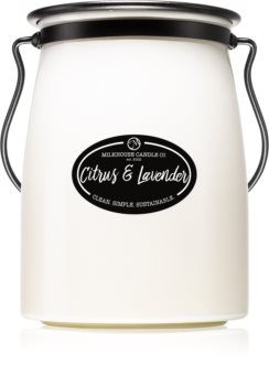 Milkhouse Candle Co. Creamery Citrus & Lavender scented candle Butter Jar