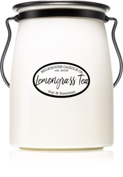 Milkhouse Candle Co. Creamery Lemongrass Tea scented candle Butter Jar