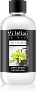 Millefiori Natural White Mint & Tonka aroma-diffuser navulling