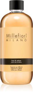 Millefiori Natural Lime & Vetiver aromadiffusor med genopfyldning