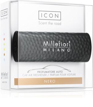 Millefiori Icon Nero odświeżacz do samochodu Hammered Metal