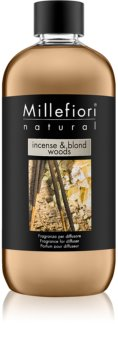 Millefiori Natural Incense & Blond Woods refill for aroma diffusers