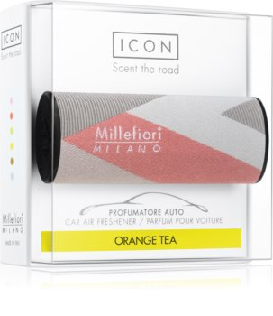 Millefiori Icon Orange Tea car air freshener Textile Geometric