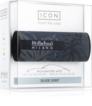 Millefiori Icon Silver Spirit ароматизатор для салона автомобиля Textile Geometric
