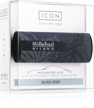 Millefiori Icon Silver Spirit car air freshener Textile Geometric