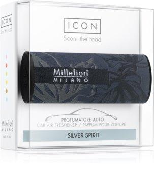 Millefiori Icon Silver Spirit vôňa do auta Textile Geometric