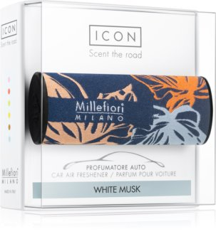Millefiori Icon White Musk car air freshener Textile Geometric