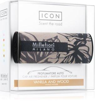 Millefiori Icon Vanilla & Wood aроматизатор за автомобил Textile Geometric