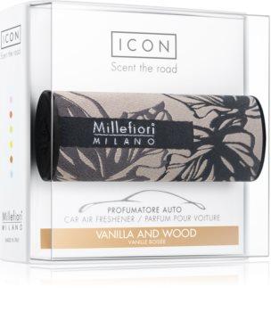 Millefiori Icon Vanilla & Wood auto luchtverfrisser  Textile Geometric