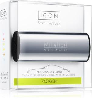 Millefiori Icon Oxygen car air freshener Metallo Shiny Blue