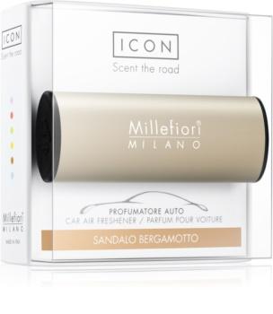 Millefiori Icon Sandalo Bergamotto ambientador de coche para ventilación Metallo Matt Bronze