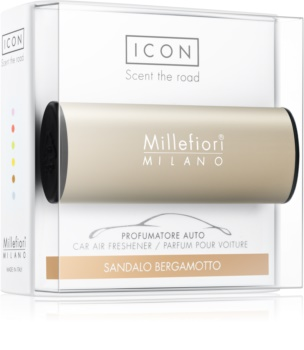 Millefiori Icon Sandalo Bergamotto car air freshener Metallo Matt Bronze
