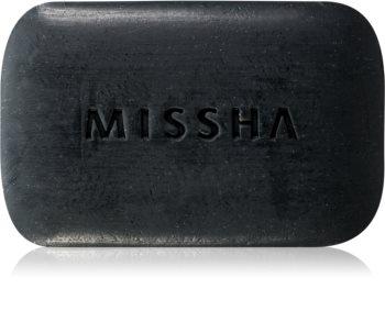 Missha Black Ghassoul почистващ сапун  за кожа с акне