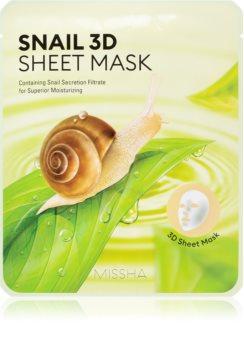Missha Snail Zellschichtmaske mit reinigender und erfrischender Wirkung mit Schneckenextrakt
