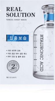 Missha Real Solution máscara em folha com efeito hidratante