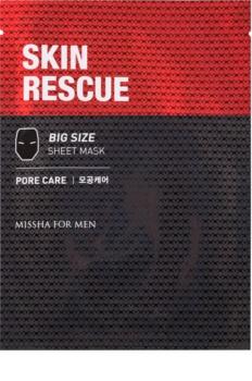Missha For Men Skin Rescue plátenná maska s čistiacim efektom pre mužov