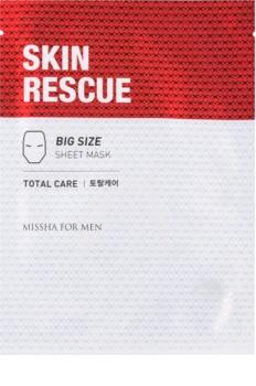 Missha For Men Skin Rescue maska iz platna proti gubam za moške