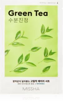 Missha Airy Fit Green Tea Beruhigende Tuchmaske mit feuchtigkeitsspendender Wirkung