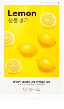 Missha Airy Fit Lemon maschera in tessuto per una pelle illuminata e vitale