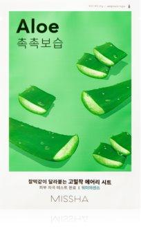 Missha Airy Fit Aloe plátýnková maska s hydratačním a zklidňujícím účinkem