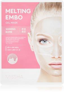 Missha Melting Embo Shining Bomb intenzívna hydrogélová maska pre rozjasnenie pleti