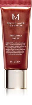 Missha M Perfect Cover ВВ крем з високоим захисним УФ фактором маленька упаковка