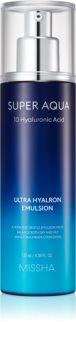 Missha Super Aqua 10 Hyaluronic Acid feuchtigkeitsspendende Emulsion für das Gesicht