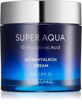 Missha Super Aqua 10 Hyaluronic Acid хидратиращ крем за лице