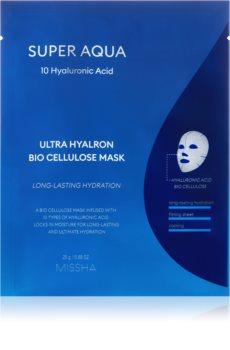 Missha Super Aqua 10 Hyaluronic Acid plátenná maska s vysoko hydratačným a vyživujúcim účinkom