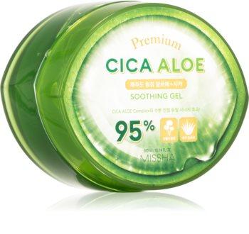 Missha Premium Cica Aloe gel hidratant cu efect de calmare cu aloe vera