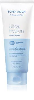 Missha Super Aqua 10 Hyaluronic Acid hydratisierender Reinigungsschaum