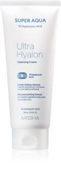 Missha Super Aqua 10 Hyaluronic Acid feuchtigkeitsspendende Reinigungscreme