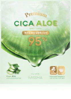 Missha Premium Cica Aloe Zellschichtmaske mit reinigender und erfrischender Wirkung mit Aloe Vera