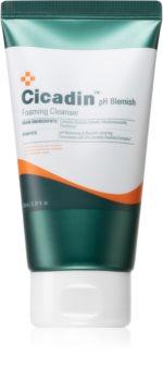 Missha Cicadin pH Blemish schiuma detergente viso per pelli sensibili