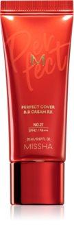 Missha M Perfect Cover RX crema BB cu protectie ridicata si filtru UV pachet mic