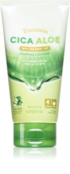 Missha Premium Cica Aloe Hydrating Cleansing Foam With Aloe Vera