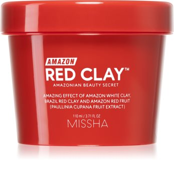 Missha Amazon Red Clay™ Oil-controlling and Pore-minimising Cleansing Mask With Clay